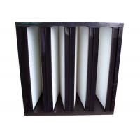 Buy Industrial Glass Fiber V Bank Filter MERV16 For Ventilation AHU System at wholesale prices