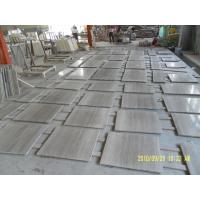 Chinese Wooden Vein Marble Grey Wood Slab Marble Tiles For Decoration for sale