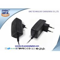 Quality EU PIN 12V Power Adapter 1.25A Low Ripple 50Hz With Black / White Color for sale