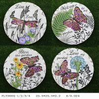 Quality Plate Shaped Ceramic Garden Art Personalized Garden Stepping Stones Diy for sale