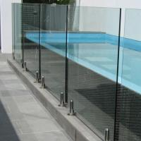 Buy cheap swimming pool glass spigot railing/round friction glass balustrade spigots from wholesalers