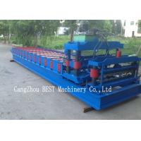 Quality Corrugated Roof Tile Roll Forming Machine 350H Steel Hydraulic Cutting for sale