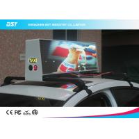 Quality High Brightness Led Taxi Top Advertising Signs With Wireless Control , 192×64 Pixel for sale