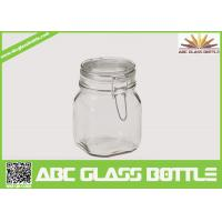 Quality Popular clear swing top glass jar for sale