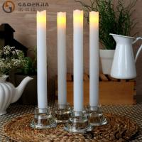 Quality Remote Control Taper Candles , Flameless Taper Candles With Timer for sale