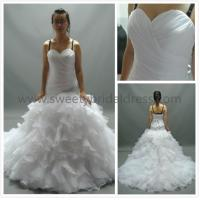 Quality Ball Gown Sweetheart Beading Ruffles Tulle Wedding Dress AS1171 for sale