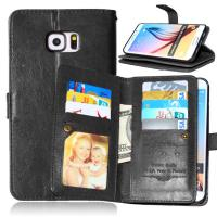 Buy Samsung Galaxy S4 S5 S6 S7 Edge+ Wallet Case Leather Cover Bags Pouch 9 Cards at wholesale prices
