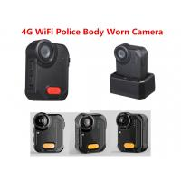 Quality 4G WiFi Police Camera 160 Degree Wide Angle 1080P  IP65 Ambarella A12 Police Video Recrder for sale