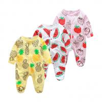 Buy Custom Pattern Print Newborn Cotton Romper , Organic Cotton Baby Clothes at wholesale prices
