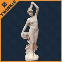 Buy cheap Customed Nude Women White Marble Natural Stone Sculptures Hand Carving from wholesalers
