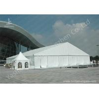 China High Pressed Frame Clear Span Steel Buildings UV Repellent Double Coated PVC Fabric Cover on sale