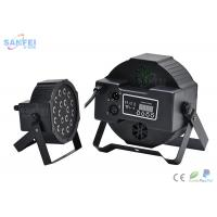 Quality DMX 18 Pcs *1W RGB LED Flat Par Light For Stage Party With Plastic Material for sale