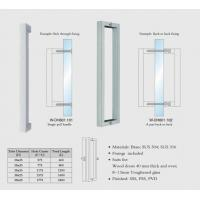 Buy cheap square tub W-DH601 back to back SUS304 Stainless Steel entry door handles set from wholesalers