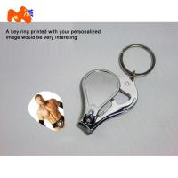Sublimation Nailnippers Personalized Metal Keychains With Name And Logo DIY Gift
