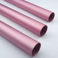 Quality Pink Anodized / Oxidation Round Aluminium Tube Oxidation Film Above 10 Um for sale