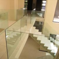 Buy cheap frameless glass balustrade,u channel glass railing, indoor glass railing from wholesalers