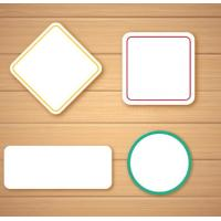 Quality Self Adhesive Blank Sticker Labels , Customized Blank Mailing Address Labels for sale