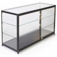 Quality 72 Inch Mobile Counter Display Showcase , Sliding Door Lighted Glass Display Case for sale