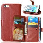 iPhone 5 5S 6 6S Plus Wallet Case Retro Cover Bags Case Pouch 9 Cards Slot Holder Pocket