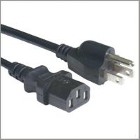 UL ceritfied power supply cord with IEC320 C13 female connector, North American cord set for sale