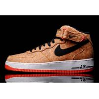 NIKE AIR FORCE 1 MID CORK AF1 Wood Color Man's Sports Shoes Skateboard The Young Shoe Fast Shipping To Mostly Countries for sale