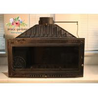 Quality Indoor Freestanding Cast Iron Fireplace Hand Carved And Polished for sale