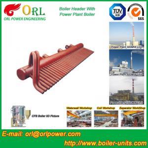 Quality ASME Standard Low Loss Header Boiler Parts / Boiler Steam Header for sale