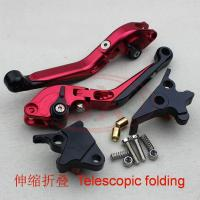Quality CNC adjustable aluminum brake and clutch levers with folding handle Motorcycle lever for sale