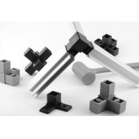 Buy 25*25mm Powder Coated Aluminum Square Tubing Frame With Connector For Display Shelf at wholesale prices