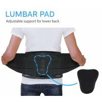 L XL Elastic Lumbar Back Spine Brace With Lumbar Pad Adjustable Breathable