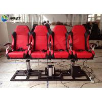 Quality Red / Black 5D Cinema System Customized Dynamic Theater System For Center Park for sale