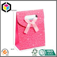 Quality Red Color Printing Tab Top Paper Bag with Hidden Velcro; Sharp Top Tent Bag for sale