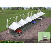 China PVDF Membrane Tensile Car Parking Tent for Shade With Guarantee 10 Years on sale