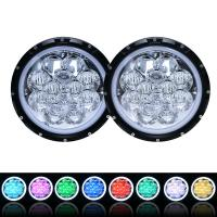 Quality 60W 5D RGB Jeep Wrangler Headlights with APP Control Multi - Color Bluetooth Remote for sale