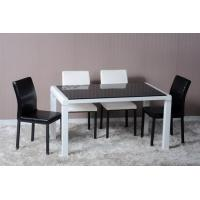 China Modern Dining Room Furniture,White/Black Glossy Dining Table on sale