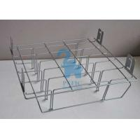 Buy Grey Powder Coated Wire Retail Display Racks , Wire Hanging Rack For Supermarket at wholesale prices