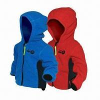 Quality Children's 3-layer Soft Shell Jacket, Waterproof Zipper and Breathable Fabric for sale