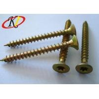 Buy cheap Yellow Zinc Double Countersunk Head Torx/Square Drive Chipboard Screw from wholesalers