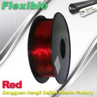 Quality Professional Eco Friendly Flexible( TPU )  Red 3D Printer Filament 1.75mm for sale