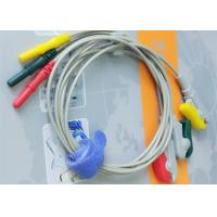 Quality Din Style IEC Safety 3 Leads ECG Monitor Cable And Leadwires Compatible All Brand for sale