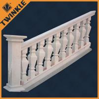 Quality Red large porch railing outdoor marble balustrade with stone garden ornaments for sale