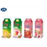 Quality Paper Aseptic Carton Packaging Slim Drink Milk Packing Box Customized Printing for sale
