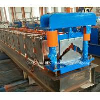 Quality Ridge Cap Chain Driven Roll Forming Machine 350H Steel With Hydraulic Cutting for sale