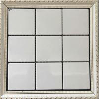 China Porcelain Ceramic Mosaic Tile / Mosaic Kitchen Tiles Black And White Color on sale