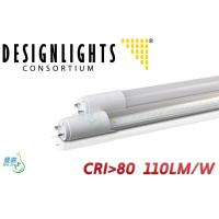 DLC Aprroved SMD2835 4000K - 4500K LED Fluorescent Tubes Efficacy 110LM/W for sale