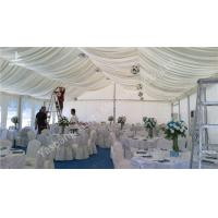 Quality Professional 150 Seaters White Luxury Beach Wedding Marquee for Rent with Wind Resistance for sale