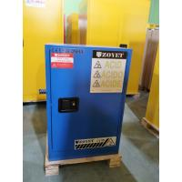 Quality Blue Corrosive Chemical Acid Storage Cabinet Flammable Locker Single Door for sale