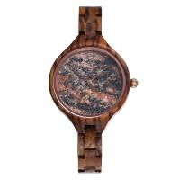 Buy cheap 36mm Stone Marble Face Watch Wooden Band True Wood Watches OEM LOGO from wholesalers