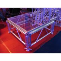Quality Transparent Glass Portable Stage Platform Movable Adjustable Size For Outdoor Concert for sale