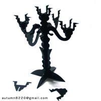Buy CH (16) clear fake glass candelabra at wholesale prices